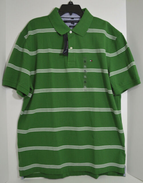 dac43136 Tommy Hilfiger Men's Striped Classic-Fit XL Polo Shirt Juniper New With Tag
