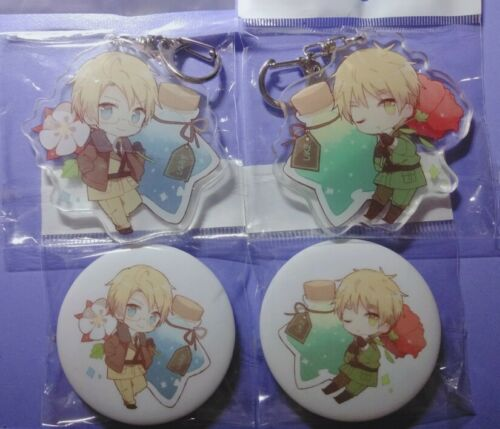 APH Axis Power Hetalia Dover Religious Keychain Keyring Brooch Badge 2 side N