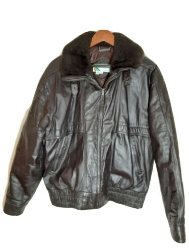 Vintage MEMBERS ONLY Brown Leather Moto Flight Jac