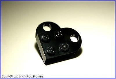 Lego rotes Herz auf runder schwarzer Platte  ähnlich 40004