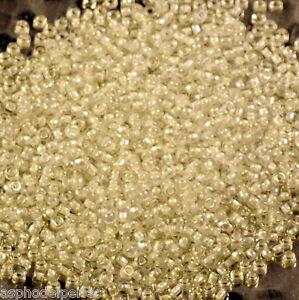 10 g de perles de rocaille 284 colorlined white AB taille 11 Ja7mr0Z7-08060340-384757410