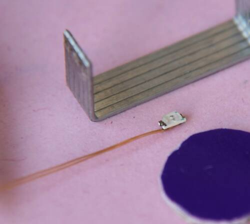 Q0603P  PURPLE  20pcs 0.1mm  Enameled Wired Leads Pre-soldered SMD Led Model DIY