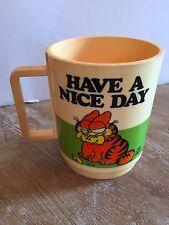 "Vintage 1978 ""Garfield"" Plastic Coffee Mug ""Have a Nice Day"" by Deka Jim Davis"