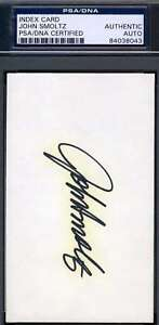John-Smoltz-Signed-Psa-dna-Coa-3x5-Index-Card-Authentic-Autograph