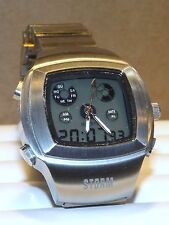 STORM DEPHTONIC CHRONOGRAPH DIGITAL WATCH STAINLESS STEEL VINTAGE