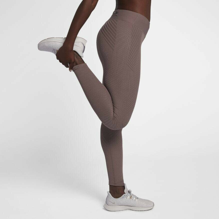 Women's Nike Leggings Epic Lux Knitted Tight Fit Running Gym Taille S