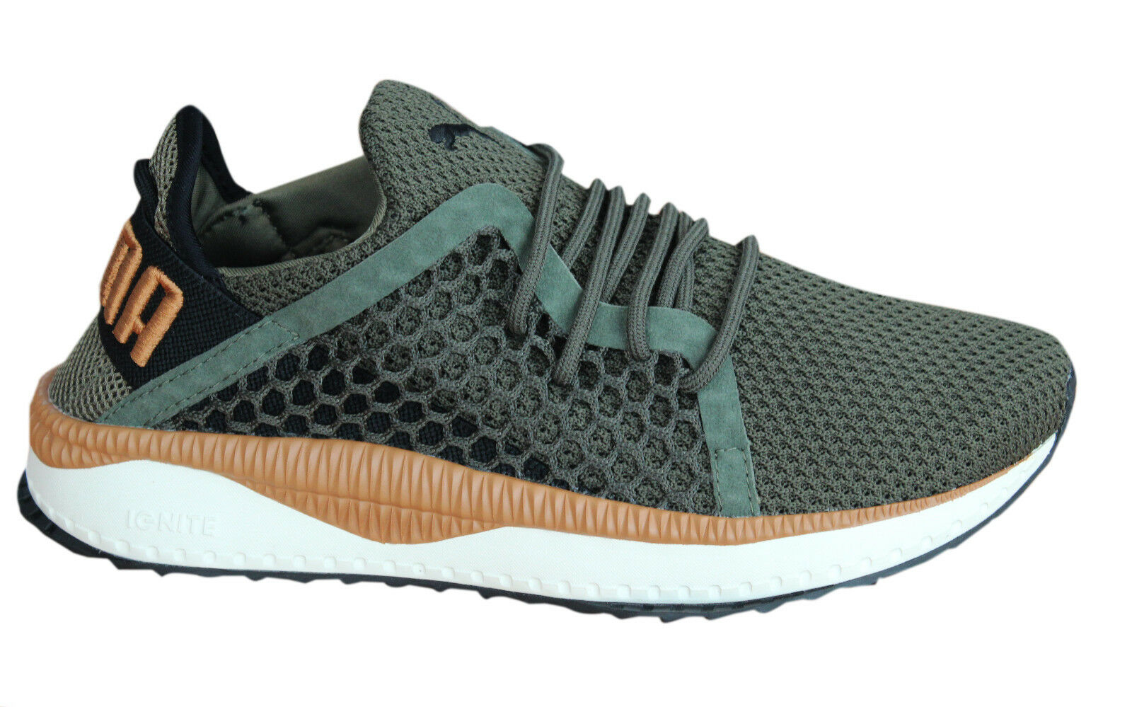 quality design d90b9 70558 Puma Tsugi Netfit Lace Up Olive Night Textile Hommes Trainers Chaussures  364629 07 P6