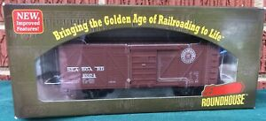 Roundhouse-HO-Scale-40-039-SHEATHED-BOX-CAR-SEABOARD-AIR-LINE-15374-85708-MIB-RTR