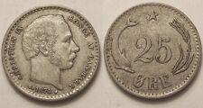 Danemark, 25 Ore argent 1874, TTB+ !!