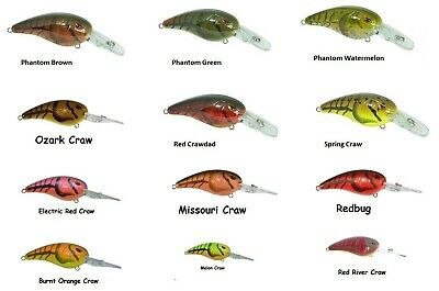 Nasty Shad dives 4 to 8/' Spro SRC50NSD RK Crawler 50