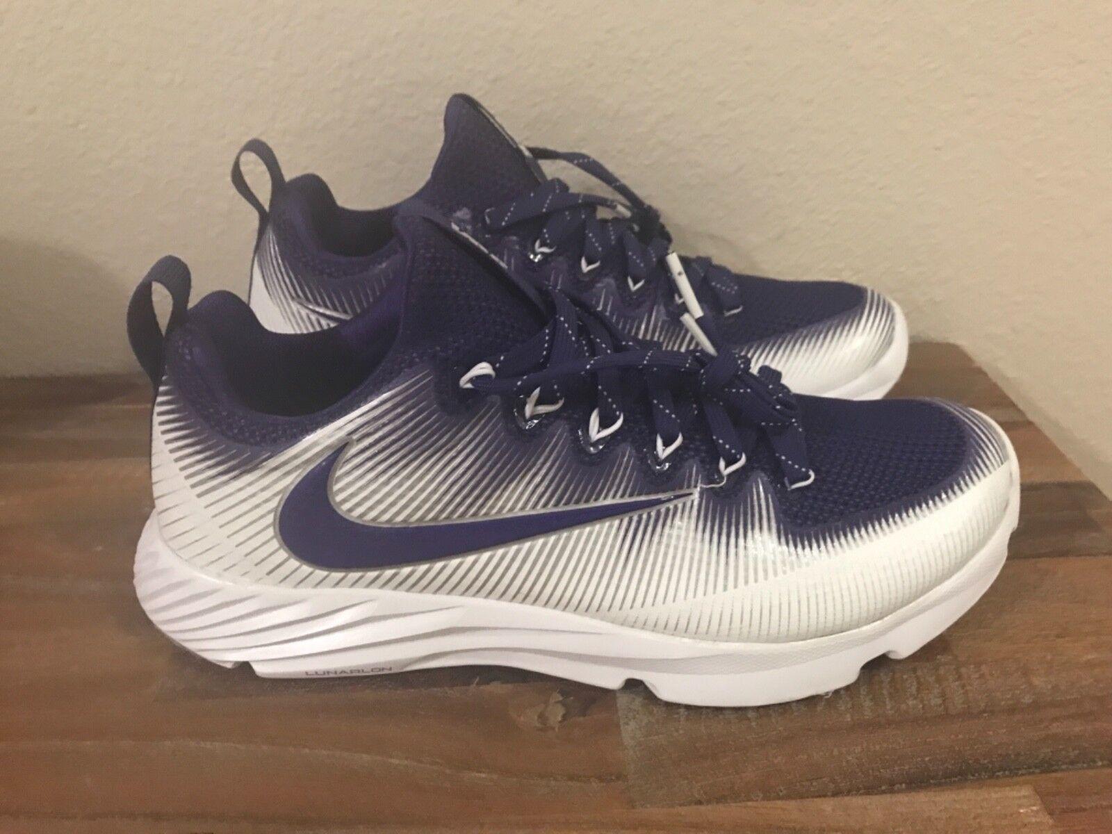 Nike Vapor Vapor Vapor Speed Turf LAX shoes Purple White 848334-551 Men Sz 8.5 1546ec