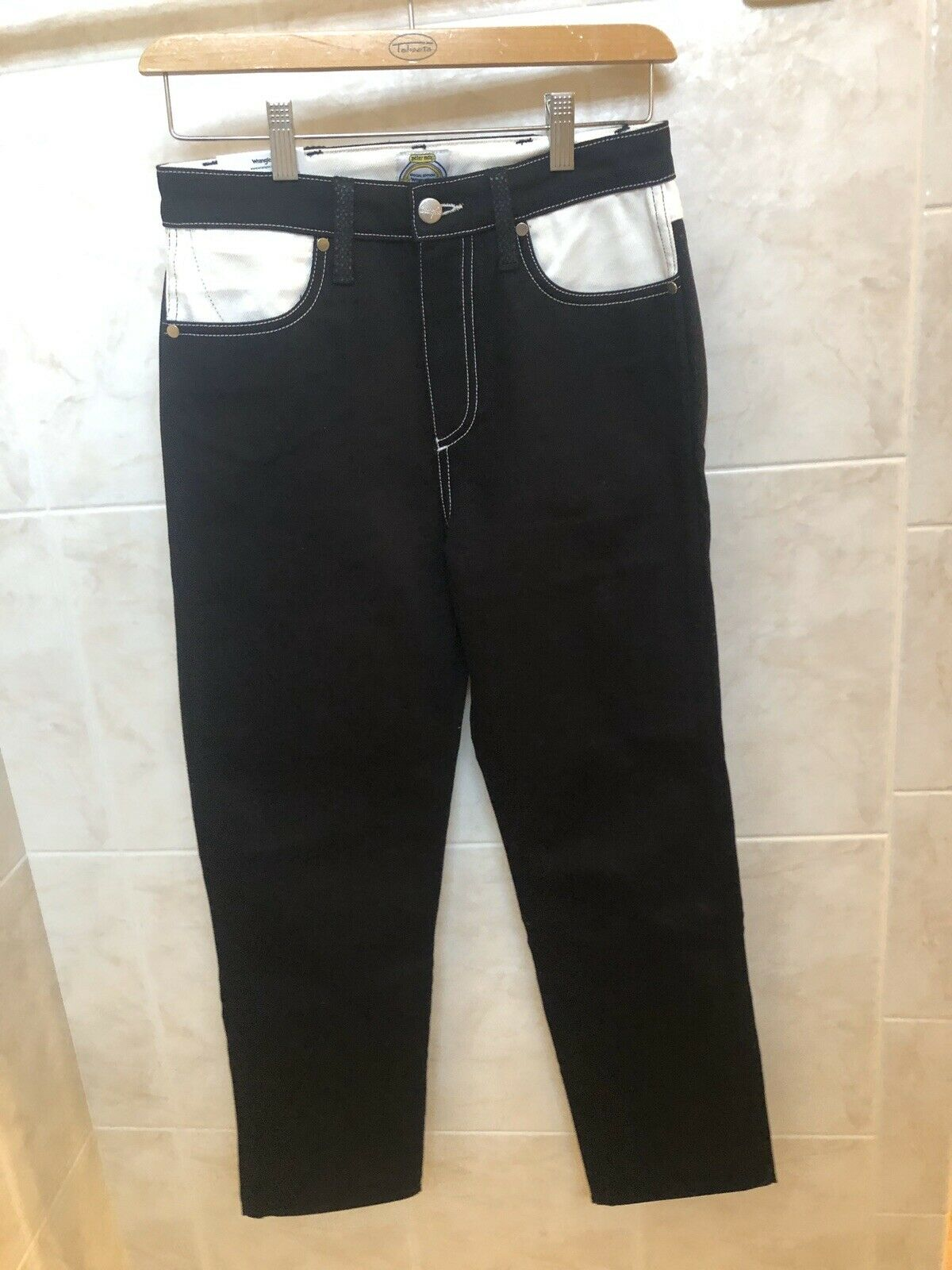 Blue WRANGLER Men/'s PETER MAX Special Edition Straight Leg Jeans size W28