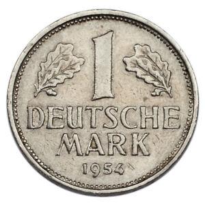 1954-J Germany Federal Republic Mark (XF Condition) KM #110