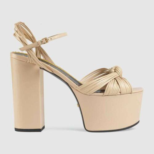 10cm Block High Heel Ladies Peep Toe Ankle Strap Wedding Bridal Summer Sandals