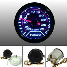 52mm 2? LED Turbo Boost Press Pressure Vacuum Gauge Meter PSI Smoke Face Tint
