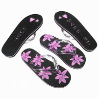 Job Lot 20 X Ladies Black & Pink Just Married Flip Flops Small 3-4