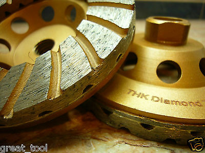 150mm 6 inch THK Diamond sintered segment grinding grind disc wheel blade 2 ROW