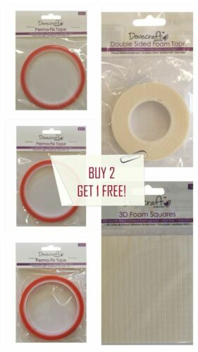 Dovecraft Cardmaking Adhesives Silicone//Double-Sided Tape//Foam Choose From Range