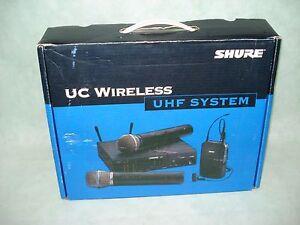 Shure UC wireless UC4  Receiver & UC1/UC2 Transmitter Set (844/839/840)