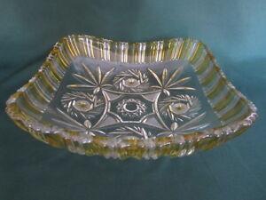 Schale-Obstschale-Schleuderstern-Kristallschale-6-5-cm-hoch-22-x-22-cm-TOP