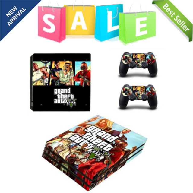 Grand Theft Auto V GTA 5 PS4 Pro Skin Sticker Decal Vinyl For Sony 4 Console NEW