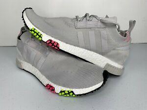 NEW-Size-13-Adidas-Originals-NMD-Racer-PK-Grey-Solar-Pink-CQ2443-Men-039-s-Shoes