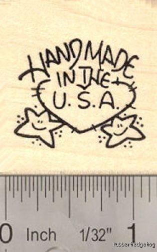 Handmade in the USA Rubber Stamp D16109  WM America
