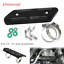 Set Motorcycle Straight Exhaust Pipe Carbon Fibre Cover Protector Heat Resistant