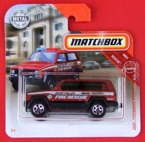 Matchbox 2019 jeep cherokee Police 51//100 neu/&ovp