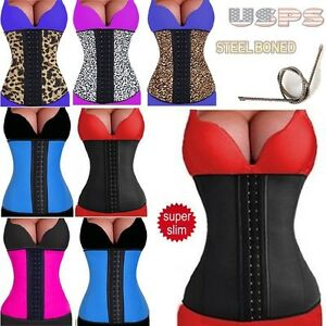 c50cd957bf Image is loading Latex-Rubber-Plus-Size-Waist-Trainer-Cincher-Underbust-
