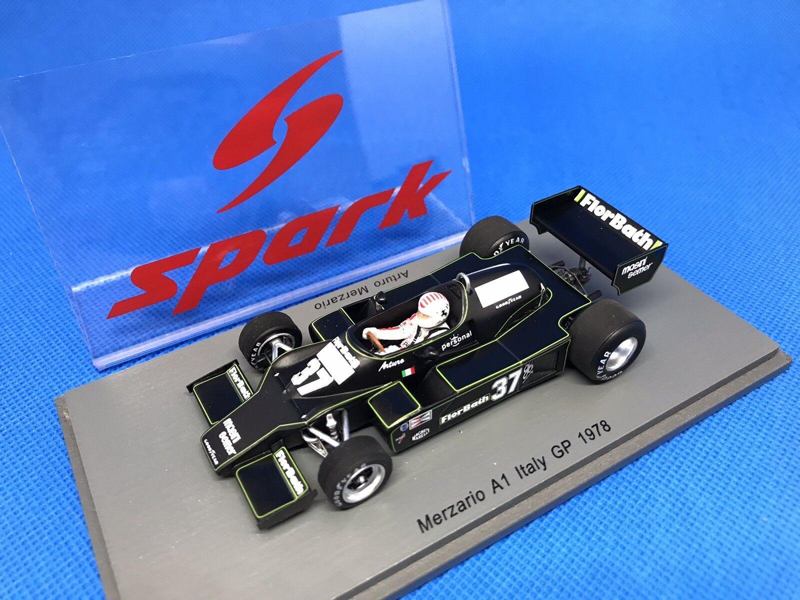 Merzario a1  37 Arturo Merzario GP Italia 1978 SPARK s4847 NUOVO + OVP