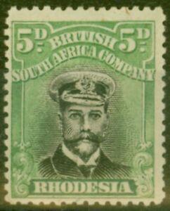 Rhodesia-1919-5d-Noir-amp-Vert-SG264-Die-III-Fin-Tres-Legerement-MTD-Excellent