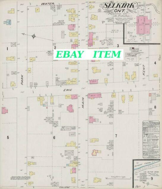 ONTARIO SELKIRK HALDIMAND COUNTY A Street & Building Map 1905