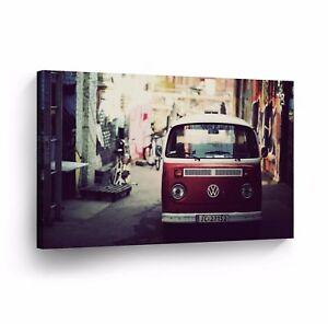 Canvas Wall Art Photo Print VW Classic Vintage Car Bus Camper Volkswagen VWH62