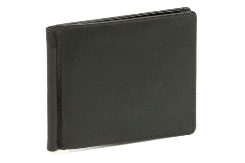 Money Clip Geldclip Dollar Geldklammer LEAS in Echt-Leder schwarz