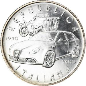 [#825097] Italie, 5 Euro, 2010, Rome, FDC, Argent, KM:329