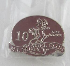 Hummel-Club-Pin-10-Year-Anniversary-Member-Goebel