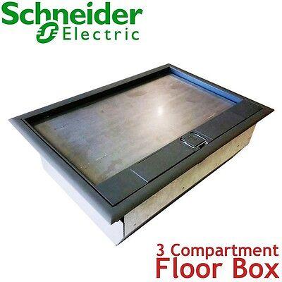 Schneider Electric Mita 3 Compartment Floor Socket Box Sockets Switch Enclosure Ebay