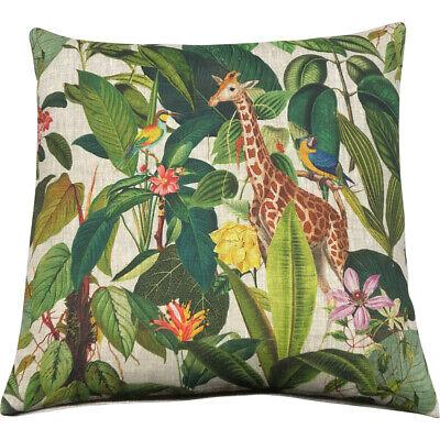 Exotic Giraffe Cushion CoverFrench 50x50cm Designer CushionLinen Back