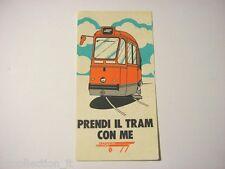 VECCHIO ADESIVO anni '80 / Old Sticker TRAM TRASPORTI TORINO (cm 7,5 x 14,5)