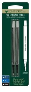 2x-Sheaffer-Compatible-Rollerball-Refills-BLUE-BLACK