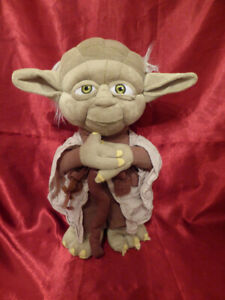 STAR-WARS-Authentic-Disney-Store-YODA-PLUSH-TOY-Approx-12-034-Empire-Strikes-Back