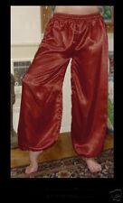 Harem Pants Belly Dance Satin Brownish Red Orange