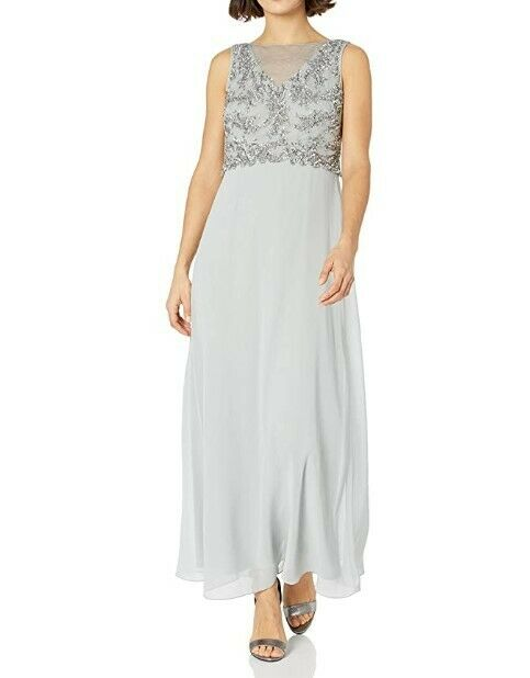 acero huella buscar  NEW* Adrianna Papell Women's Long Gown with Beaded Bodice Size 10 Petite  AQ1000 for sale online