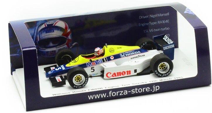 TR002 Spark 1 43 Forza Williams Honda FW09B test N. Mansell Suzuka 1985.03.12