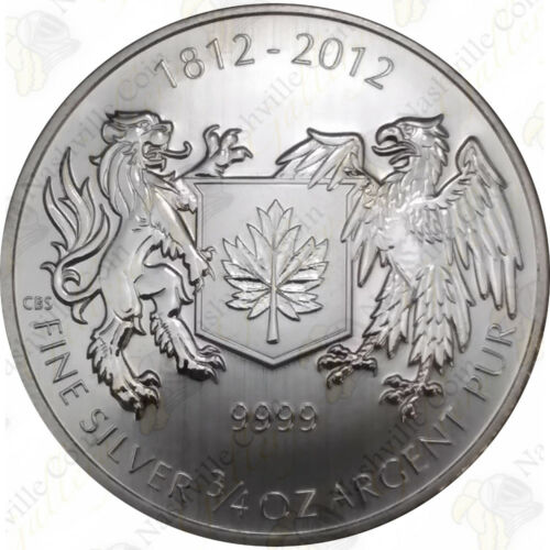 2012 CANADA 3//4 OZ .9999 SILVER — WAR OF 1812 — SKU #62212