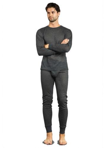Mens 2 pc Thermal Underwear Set Long Johns Knit Top Bottom Set