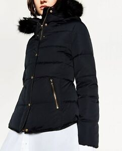3c005c26 Image is loading ZARA-SHORT-DUCK-DOWN-FEATHER-ANORAK-PUFFER-QUILTED-