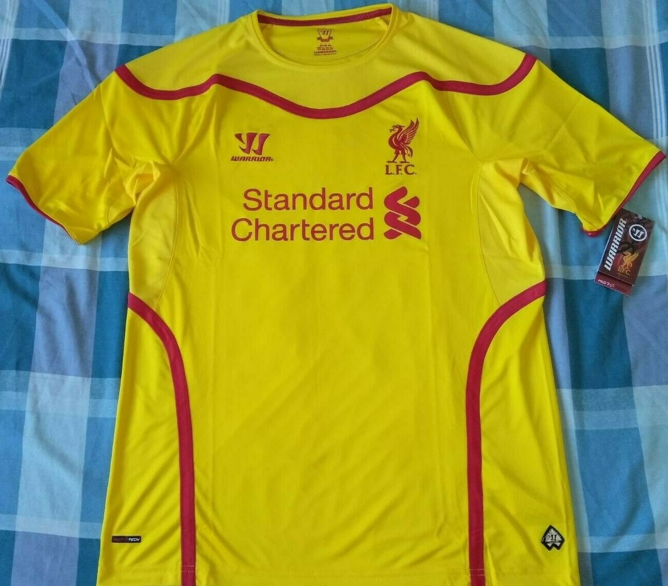Shirt Camiseta Trikot LIVERPOOL Warrior Season 2014 Diuominiione L Away nuovo wtags