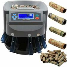 Electronic Usd Coin Sorter And Counter Lcd Display Sorts 270 Coins Per Minute